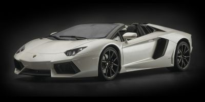Pocher 1/8scale Lamborghini Aventador LP 700-4 Roadster - Bianco Canopus semi-matt metallic white [No.HK104]