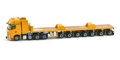 IMC Models 1/50scale Mercedes-Benz Actros 2 Giga Space 8×4 + Nooteboom 7 Axle Ballast Trailer + Boom Sadd Yellow series  [No.IMC330051]