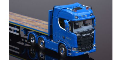 "IMC Models 1/50scale Scania New S-Series Highline 6x2 & Flatbed 3 axle ""Blue Crown""  [No.IMC330077]"