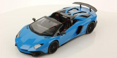 MR Collection 1/18scale Lamborghini Aventador LP750-4 Roadster SV Blue [No.LAMBO021A]