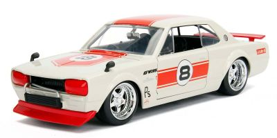 JADA TOYS 1/24scale 1971 Nissan Skyline 2000 GT-R Racing Red  [No.JADA30002RW]