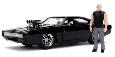 JADA TOYS 1/24scale F&F Dodge Charger Black Dominique Toretto with figure  [No.JADA30737]