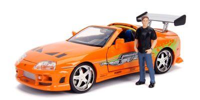 JADA TOYS 1/24scale F&F Toyota Supra Orange Brian O'Connor with figure  [No.JADA30738]