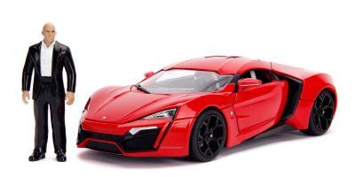 JADA TOYS 1/18scale F & F (7) Lykan HyperSport Red (Dominic) with Dominic figure / light on  [No.JADA31140]