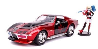JADA TOYS 1/24scale Corvette Stingray 1969 with Harley Quinn figure (DC Comics Bombshells)  [No.JADA31196]