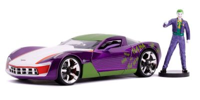 JADA TOYS 1/24scale Corvette Stingray 2009 with Joker figure (DC Comics Bombshells)  [No.JADA31199]