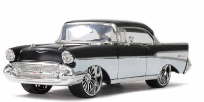 JADA TOYS 1/24scale 1957 Chevy Bel Air Black / White  [No.JADA32299]