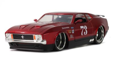 JADA TOYS 1/24scale 1973 Ford Mustang Mach 1 # 73 Metallic Red  [No.JADA32301]