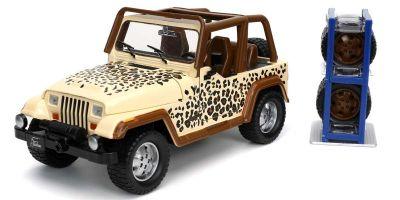 JADA TOYS 1/24scale 1992 Jeep Wrangler Cream / Brown / Leopard  [No.JADA32426]