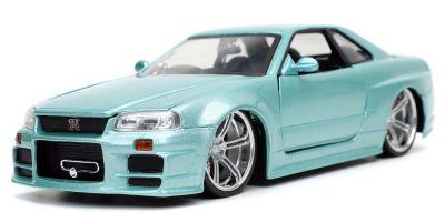 JADA TOYS 1/24scale F & F Nissan Skyline GT-R (BNR34) Light Green Metallic (Brian)  [No.JADA32608]