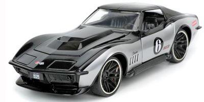 JADA TOYS 1/24scale 1969 Chevy Corvette Stingray Glossy Black / Silver  [No.JADA32775]