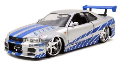 JADA TOYS 1/24scale F & F Nissan Skyline GT-R BNR34 Silver (Brian)  [No.JADA97158]