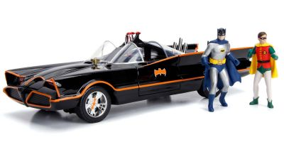 JADA TOYS 1/18scale Batmobile (Classic TV Series) with Batman & Robin figures  [No.JADA98625]