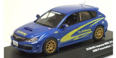 J-COLLECTION 1/43scale SUBARU IMPREZA WRX STI Group N Rally Presentation Car 2008 Blue/Yellow [No.JC29004PN]