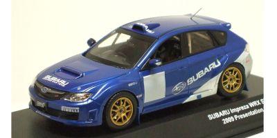 J-COLLECTION 1/43scale SUBARU IMPREZA WRX STI Group N Rally WRC Car Presentation 2009 Blue/White [No.JC29005PW]