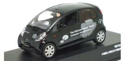 J-COLLECTION 1/43scale MITSUBISHI i-MiEV Okinawa Electric Power demonstration test vehicle Black [No.JC59004OK]
