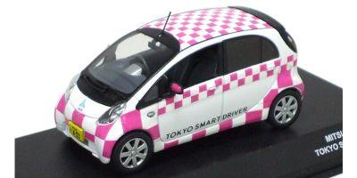 "J-COLLECTION 1/43scale MITSUBISHI i-MiEV ""TOKYO SMART DRIVER"" White/Pink [No.JC59013TS]"