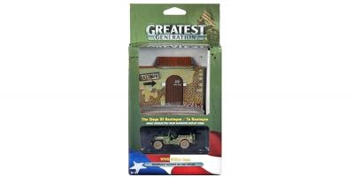 JOHNNY LIGHTNING 1/50scale Willys Jeep WW II   Panel Diorama Set  [No.JLDS001B]