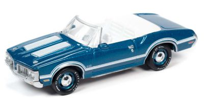 JOHNNY LIGHTNING 1/64scale 1970 Olds 442 Convertible Aegean Aqua (Blue)  [No.JLCG022A2BL]
