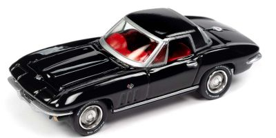 JOHNNY LIGHTNING 1/64scale 1965 Chevy Corvette Hardtop Gloss Black  [No.JLCG022A3BK]