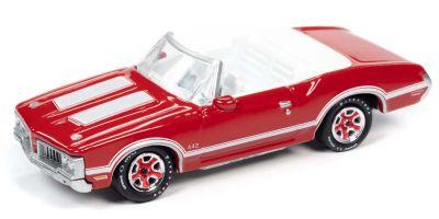 JOHNNY LIGHTNING 1/64scale 1970 Olds 442 Convertible Matador Red  [No.JLCG022B2R]