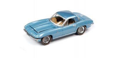 JOHNNY LIGHTNING 1/64scale 1965 Chevy Corvette Hardtop Mist Blue  [No.JLCG022B3BL]