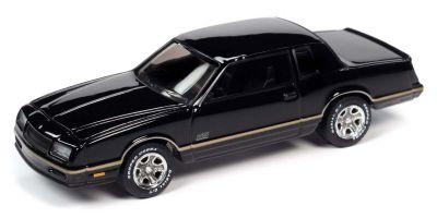 JOHNNY LIGHTNING 1/64scale 1987 Chevy Monte Carlo SS Black / Gold Stripe  [No.JLCG022B4BK]