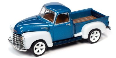 JOHNNY LIGHTNING 1/64scale 1950 Chevy Truck Blue / White  [No.JLCG022B6BL]