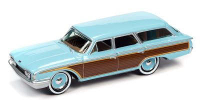 JOHNNY LIGHTNING 1/64scale 1960 Ford Country Squire Aquamarine Blue  [No.JLCG023B1BL]