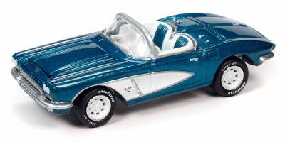 JOHNNY LIGHTNING 1/64scale 1962 Chevy Corvette Metallic Blue  [No.JLCG023B3BL]