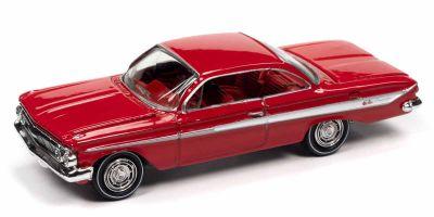 JOHNNY LIGHTNING 1/64scale 1961 Chevy Impala SS 409 Romantic Red  [No.JLCG023B4R]