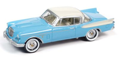 JOHNNY LIGHTNING 1/64scale 1957 Studebaker Golden Hawk Blue  [No.JLCG025B1BL]