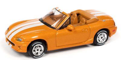 JOHNNY LIGHTNING 1/64scale 1999 Mazda Miata Orange / White Line  [No.JLCG025B5OR]