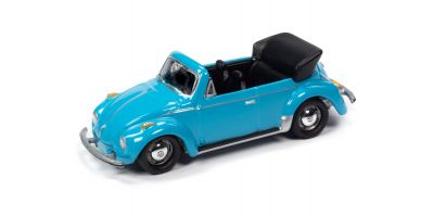 JOHNNY LIGHTNING 1/64scale 1975 VW Super Beetle Convertible Blue  [No.JLCT005A1BL]