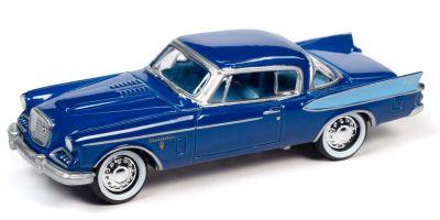 JOHNNY LIGHTNING 1/64scale 1957 Studebaker Golden Hawk Azure Blue  [No.JLCT006BBL]