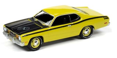 JOHNNY LIGHTNING 1/64scale 1971 Plymouth Duster 340 (Curios Yellow)  [No.JLMC022A1Y]