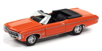 JOHNNY LIGHTNING 1/64scale 1969 Chevrolet Impala SS Convertible (Hugger Orange)  [No.JLMC022A4OR]
