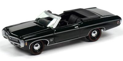 JOHNNY LIGHTNING 1/64scale 1969 Chevrolet Impala SS Convertible (Fathom Green)  [No.JLMC022B4G]