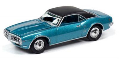 JOHNNY LIGHTNING 1/64scale 1968 Pontiac Firebird (Meridian Turquoise)  [No.JLMC022B5BL]