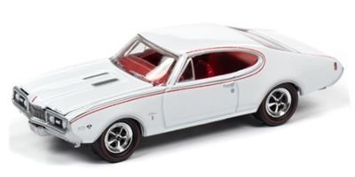 JOHNNY LIGHTNING 1/64scale 1968 Oldsmobile Cutlass W31 Ram Rod 350 (White)  [No.JLMC022B6W]