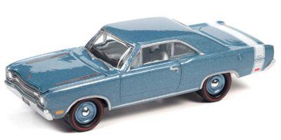 JOHNNY LIGHTNING 1/64scale 1969 Dodge Dart GTS B3 Blue (Iridescent) / White  [No.JLMC024A1BL]