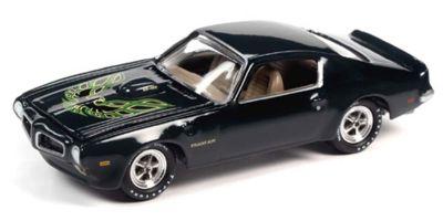 JOHNNY LIGHTNING 1/64scale 1973 Pontiac Transam Black / Green  [No.JLMC024A3BK]