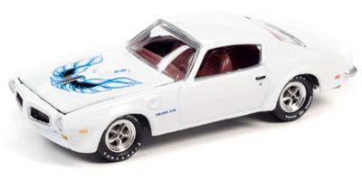 JOHNNY LIGHTNING 1/64scale 1973 Pontiac Transam Cameo White / Blue & Black  [No.JLMC024B3W]