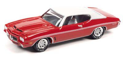 JOHNNY LIGHTNING 1/64scale 1972 Pontiac GTO Cardinal Red / White  [No.JLMC024B4R]