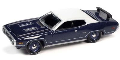 JOHNNY LIGHTNING 1/64scale 1971 Plymouth GTX In Violet / White  [No.JLMC026A6VW]