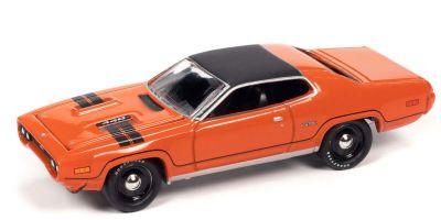 JOHNNY LIGHTNING 1/64scale 1971 Plymouth GTX EV2 True Red / Black  [No.JLMC026B6TR]