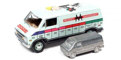 JOHNNY LIGHTNING 1/64scale 1977 Monopoly Dodge Van & Token (Monopoly piece)  [No.JLPC002ABL]