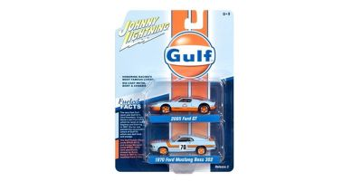 "JOHNNY LIGHTNING 1/64scale Johnny Lightning  2-Pack Special  ""Ford Gulf Set""  [No.JLPK004B]"