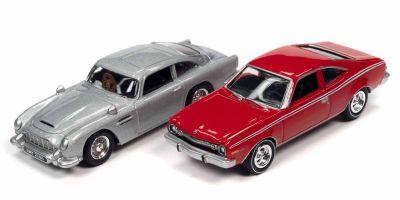 JOHNNY LIGHTNING 1/64scale James Bond 1964 Aston Martin DB5 & James Bond 1974 AMC Hornet 2 set  [No.JLPK011A]