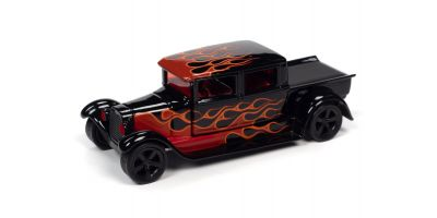 JOHNNY LIGHTNING 1/64scale 1929 Ford Crew Cab Truck Black (Black / Frames)  [No.JLSF017A2BK]